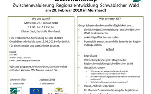 Bilanzworkshop am 28.02.2018 in Murrhardt